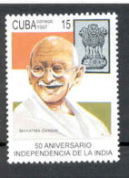 Cuba 1997 Independence Of India, 50th Anniversary. Mahatma Gandhi. MNH. Scott 3847. Value $0.50 - Mahatma Gandhi