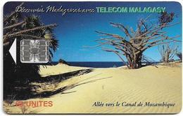 Madagascar - Telecom Malagasy - Beach, (Canal De Mozambique) - 25Units, Chip SC7, 500.000ex, Used - Madagascar
