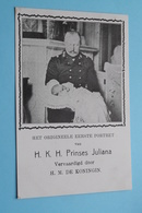 Het Origineele Eerste Portret Van H. K. H. Prinses JULIANA () Anno 1909 ( Voir / Zie > Foto ) ! - Familles Royales