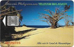 Madagascar - Telecom Malagasy - Beach, (Canal De Mozambique) - 25Units, Chip SC7, 600.000ex, Used - Madagascar