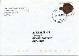 Latvia  Cover Sent To Denmark Smiltene 16-8-2004 Single Franked - Latvia