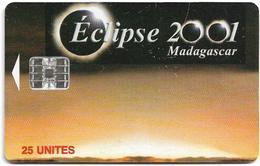 Madagascar - Telecom Malagasy - Eclipse 2001 - 25Units, SC7, 200.000ex, Used - Madagascar
