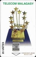 Madagascar - Telecom Malagasy - Euromarket Award - 25Units, SC7, 450.000ex, Used - Madagascar