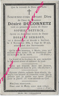 En 1904 -Boeschèpe  Et Bailleul (59) Désiré DUCORNETZ Ep Sophie DETURCK Et Rosalie SERROEN - Décès