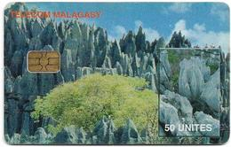Madagascar - Telecom Malagasy - Tsingy Du Nord - 50Units, 400.000ex, Used - Madagaskar