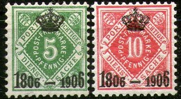 Württemberg,Crown 1906,Scott#O9+O10,MLH *,as Scan - Wurttemberg