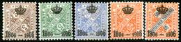 Württemberg,Crown Set 1906,Mi#D218/219+221,222,223,as Scan - Wurttemberg