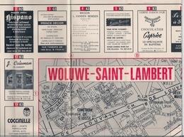 WOLUWE-SAINT-LAMBERT (BRUXELLES) - PLAN (1976) - Cartes