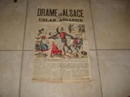 DRAME EN ALSACE  OU  LE  UHLAN ASSASSIN JOURNAL  L BAUDOT EDITEUR 8 RUE DES CARMES PARIS - Zeitungen