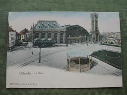 OOSTENDE - LA GARE - Ed. Hoffmann Gekleurd - Oostende