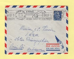 Marianne De Gandon - Destination Nossi Be Madagascar Station Oceanographique - 1955 - Postmark Collection (Covers)