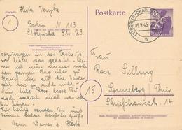 BERLIN-CHARLOTTENBURG - 1945  , Ganzsache Nach Sonneberg - American/British Zone