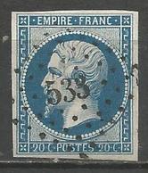 FRANCE - Oblitération Petits Chiffres LP 533 BRIONNE (Eure) - 1849-1876: Periodo Classico