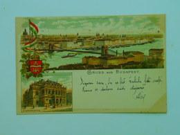 Hungary M25 Budapest Litho 1897 Ed K Burg - Hungary