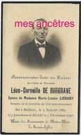 En 1930 Bailleul (59) Leon DE BURGRAVE Ep Marie-Louise LIENART Membre Confrérie Saint Sacrement - Décès