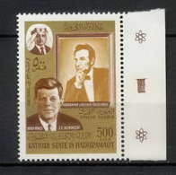 Aden - 1029 Kathiri State Of Seiyun - N° 164A Lincoln - Kennedy COTE 5.5 - Ver. Arab. Emirate