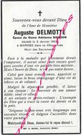 En 1967 Marines (95) Auguste DELMOTTE Ep Adrienne BOUDEN 68 Ans - Avvisi Di Necrologio