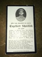 Sterbebild Wk1 Bidprentje Avis Décès Deathcard IR17 Lazarett Bamberg 1916 Aus Hart - 1914-18