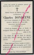 En 1916 Bailleul (59)  Charles DONSEYNE Né à Locre (B) En 1838 - Décès