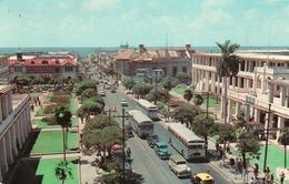 KING STREET-LOOKING TOWARDS HARBOUR-KINGSTON-DOMINION OF JAMAICA- VIAGGIATA 1967 - Jamaïque