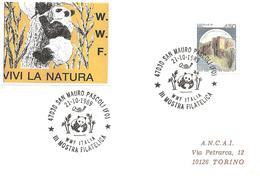 ITALIA - 1989 S.MAURO PASCOLI (FO) WWF Italia (panda) - III Mostra Filatelica - W.W.F.
