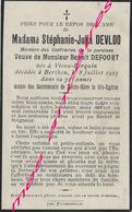 En 1923 Vieux Berquin Et  Berthen (59)  Stéphanie DEVLOO Ep Benoit DEFOORT 71 Ans - Obituary Notices