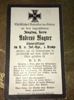 Sterbebild Wk1 Bidprentje Avis Décès Deathcard IR11 - 1914-18
