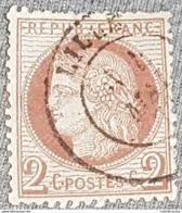 FRANCE 1871-75 2c Rouge Brun Cérès YT 51 Oblitération Lille Mai 73 - 1871-1875 Cérès