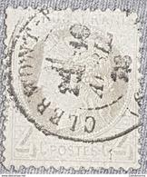 FRANCE 1873 4c Cérès YT 52 Oblitération Clermont Ferrand Avril 73 - 1871-1875 Ceres