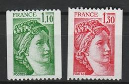 FRANCE SABINE 1979 YT N° 2062 Et 2063 ** - 1977-81 Sabine Of Gandon