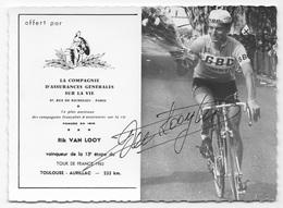 CARTE CYCLISME RIK VAN LOOY - TOUR DE FRANCE 1963 - Cycling