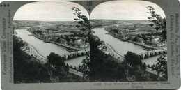 Belgium ~ NAMUR Meuse Stone Bridge Parc Citadel Stereoview 25586 396x NEAR MINT - Photos Stéréoscopiques