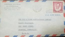 O) 1949 COSTA RICA, MIGUEL DE CERVANTES SAAVEDRA - NOVELIST -PLAYWRIGHT -POET, AIRMAIL, CIRCUITO TEATRAL RAVENTOS, TO US - Costa Rica