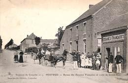59 - Coulsore (environs)  - Hestrud - Bureau Des Douanes Françaises Et Route De Grand-Rieu (top Animée 1909) - France
