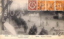76 - Le Havre - Quai D'Orléans - Lanciers Anglais - English Lancers 1915 - Porto