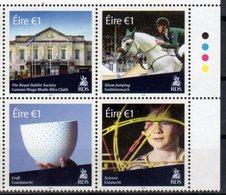 IRELAND, 2018, MNH, ROYAL DUBLIN  SOCIETY, HORSES, SHOW JUMPING, SCIENCE, CRAFTS, ARCHITECTURE, 4v - Horses