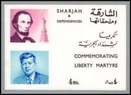 Sharjah - 2007/ Bloc N° 38 II Kennedy - Lincoln ARGENT SILVER ** MNH - Schardscha