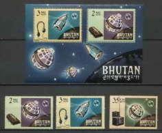 Bhutan (Bhoutan) - 3198/ Yvert N° 60/62 + Bloc 4 Union Internationale Des Télécommunications Uit ** MNH - Bhutan