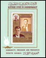 Aden - 1031 Kathiri State Of Seiyun - Bloc N° 14 A Lincoln - Kennedy Cote 12 Euros - Ver. Arab. Emirate