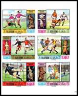 Ras Al Khaima - 607 - N° 354/359 B Football (Soccer) COUPE DU MONDE MEXICO 1970 Non Dentelé ** (imperforate) - Coppa Del Mondo