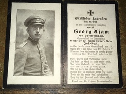 Sterbebild Wk1 Bidprentje Avis Décès Deathcard RIR CORBENY CERNY EN LAONNOIS April 1917 Aus Obertrennbach Straubing - 1914-18