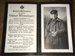 Sterbebild Wk1 Bidprentje Avis Décès Deathcard Magazin Fuhrparkkolonne 1 RHEINPFALZ Rossbach Aus Dorfen 1919 - 1914-18