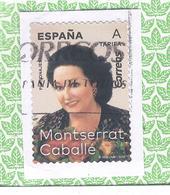 España 2019 - 1 Sello Usado- Monserrat Caballé -Serie Personajes De España-Espagne Spain Spanien Spagna - 2011-... Afgestempeld