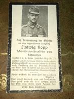 Sterbebild Wk1 Bidprentje Avis Décès Deathcard KUK Sch. FAR21 Italian TIROL TRIENT  1918 Aus Schnaitsee - 1914-18