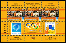 Bosnia Serbia 2004 Athens Summer Olympic Games, Ancient Greece, Horses, Block, Souvenir Sheet MNH - Summer 2004: Athens