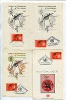 CAMPAÑA MUNDIAL CONTRA EL PALUDISMO. ARGENTINA AÑO 1962 LOTE 8 TARJETAS OBLITERES DIA DE EMISION FDC -LILHU - Enfermedades