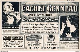 SUPERBE BUVARD  Cachet GENNEAU - Produits Pharmaceutiques