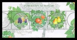 Uzbekistan 2019 Mih. 1355/57 (Bl.95) Flora. Fruits MNH ** - Uzbekistán