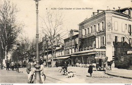 D81  ALBI  Café Glacier Et Lices Du Rhône - Albi
