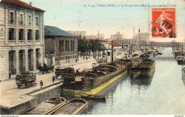 D75  PARIS XIX ème Le Canal Saint Martin  Rue De Crimée - Arrondissement: 19